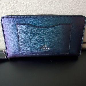 Coach Hologram Accordion Zip Wallet